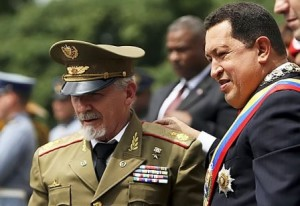 Ramiro Valdez y Hugo Chavez