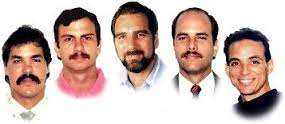 "The convicted spies lauded by Havana as the ""Cuban Five"""