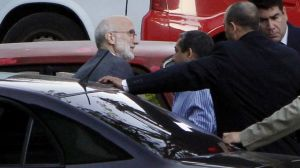 Alan Gross outside the courthouse in Havana, Cuba, in a March 5, 2011, file photo. (AP)