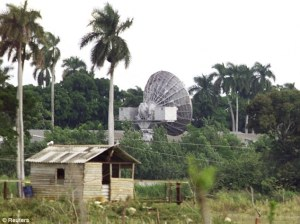 The former Russian listening station at Lourdes some 20 miles south of Havana is seen in this December 2000. It was mothballed a year later but could reopen, it is reported. [Courtesy:  The (London) Daily Mail]