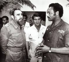 Jesse Jackson meeting with Cuban leader Fidel Castro in Cuba on June 25, 1984.