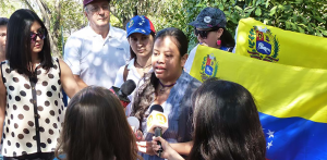 María Laura Liscano speaks out against the Castro regime's harassment of the Venezuelan opposition in Chile. (Terra)