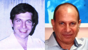 Rolando Sarraff in 1996, the year he was imprisoned by the Cuban government (L)and more recently (R). Sarraff was sentenced to jail by the Cuban government for spying for the United States. He was freed in a prisoner exchange with the United States last month. (Family photo)