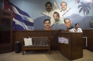 "The ""Cuban Five,"" which includes Ramon Labanino (top left), Gerardo Hernandez (top right), Fernando Gonzalez (bottom left), Antonio Guerrero (bottom right) and Rene Gonzalez (center), have become part of the new political intrigue in Cuba. (Alexandre Meneghini/Reuters)"