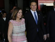 PHOTO: New York Governor Andrew Cuomo, right, walks with Cuba's Josefina Vidal, director general of the U.S. division at Cuba's Foreign Ministry, as he arrives to the Jose Marti airport in Havana, Cuba, Monday, April 20, 2015. Cuomo is the first U.S. governor to visit Cuba since the Dec. 17 declaration of detente. (AP Photo/Desmond Boylan)The Associated Press