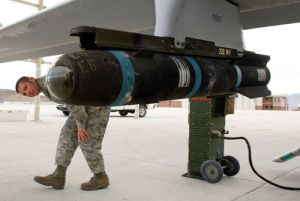 The Hellfire missile can be attached to helicopters or drones